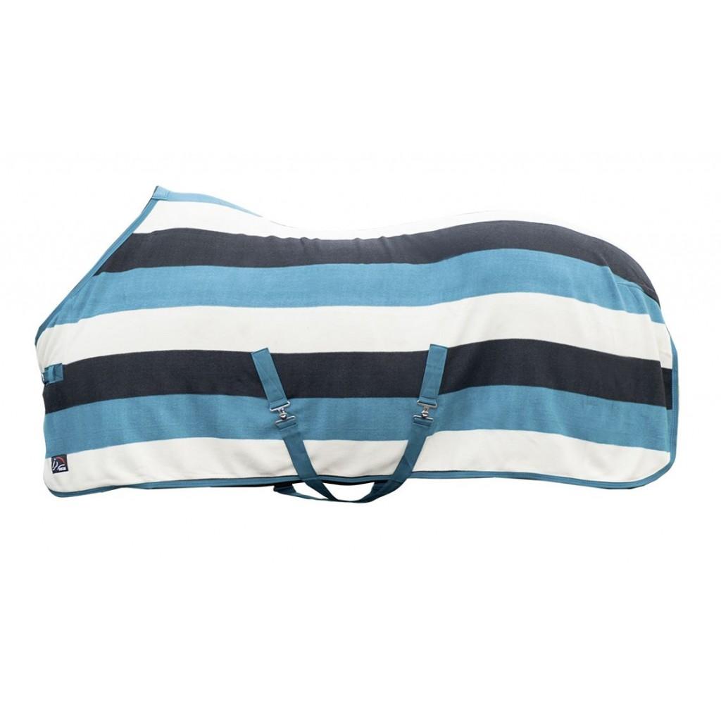 Abschwitzdecke -fashion stripes- mit Kreuzgurt