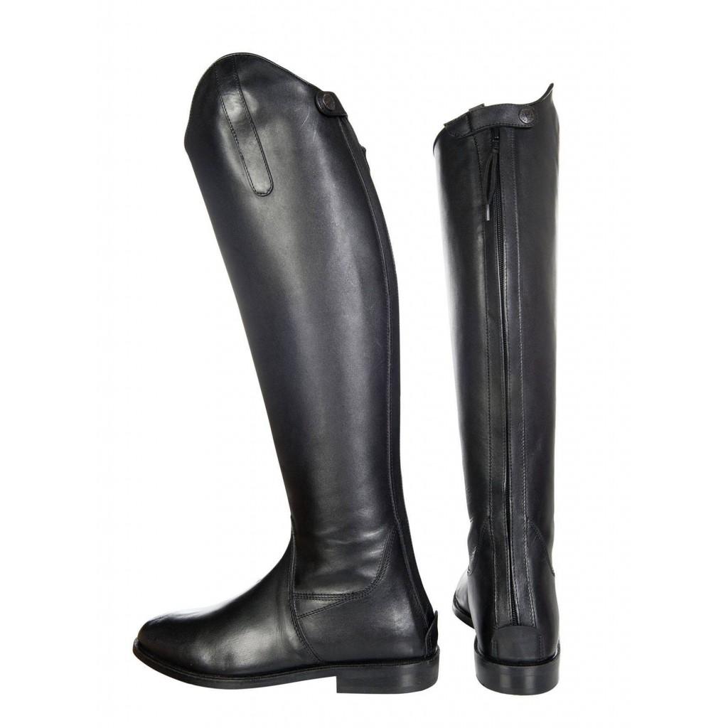 lang//schmale Weite schwarz Softleder 39 HKM Reitstiefel -Spain-