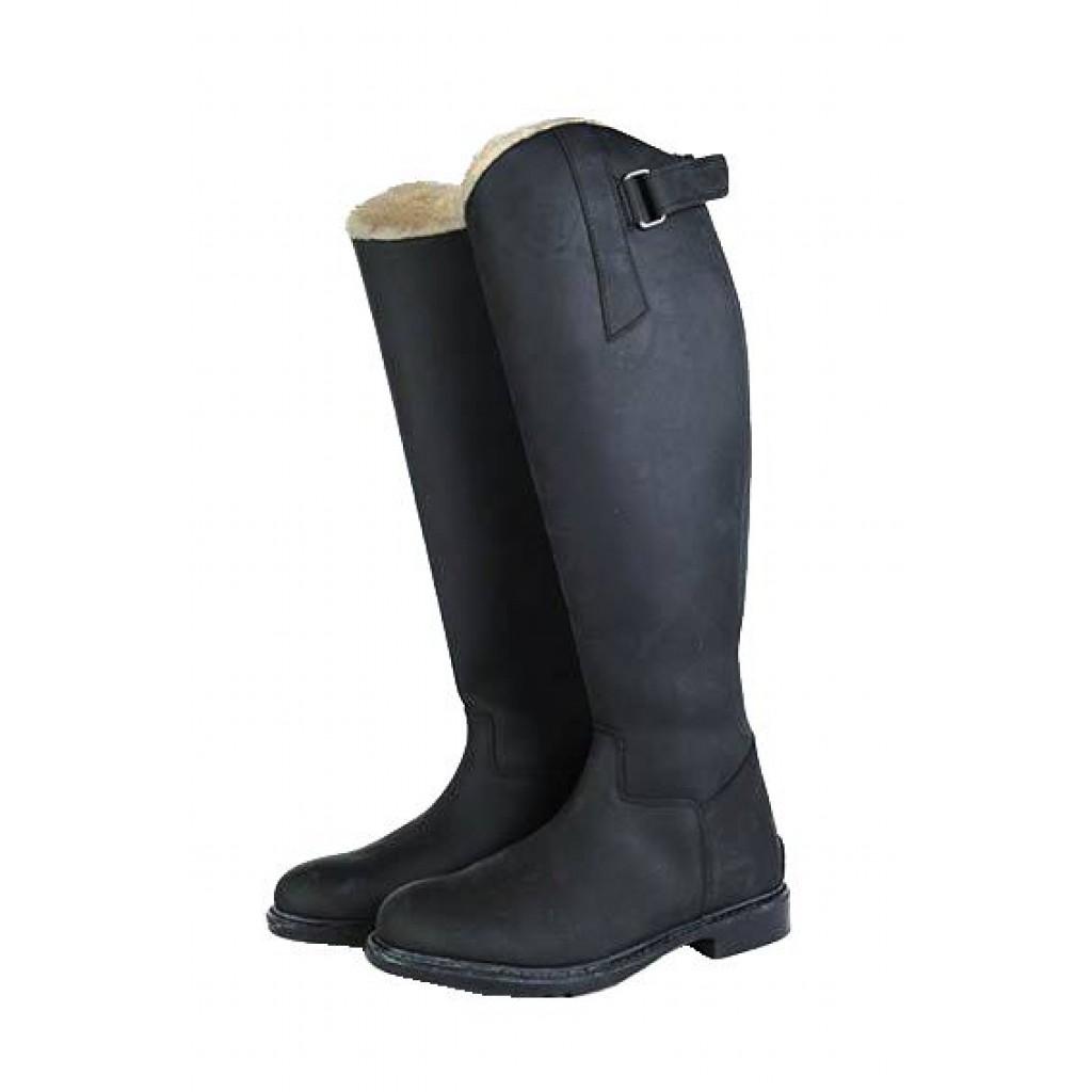 best sneakers 00325 43abd Schwarze Lederreitstiefel mit hoher Wärmehaltung | HKM
