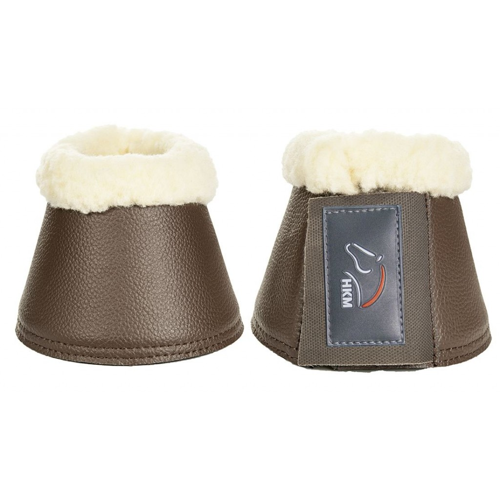 Hufglocken Soft-Comfort Lederimitat HKM dunkelbraun NEU