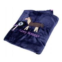 Tagesdecke aus Fleece -Funny Horses- 130 x 165cm