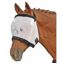 Fliegenschutzmaske mit Teddyrand -Funny-