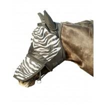 Fliegenschutzmaske -Zebra- mit Nüsternschutz