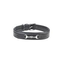 Lederhundehalsband -Gebiss-