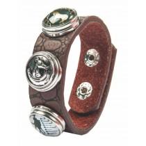 Armband -Reiter,Pferdekopf, Pferd/Eisen + 2 Knöpfe