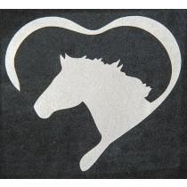 Bügelmotiv Herz mit Pferd