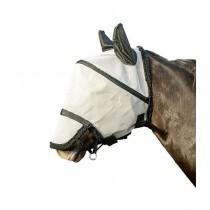 Fliegenschutzmaske mit Nüsternschutz zum Abkletten