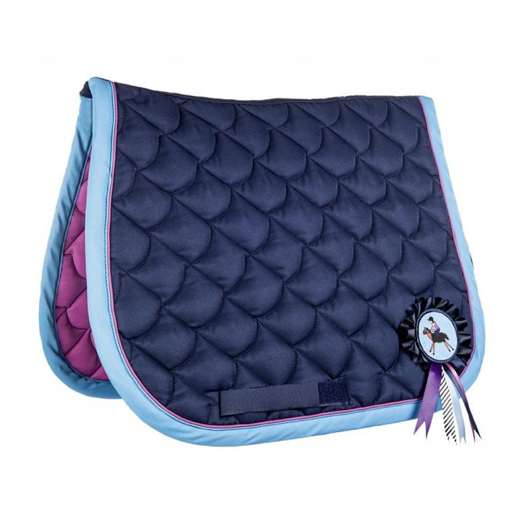 Hkm Hkm 4057052145612 Funny Horses avec Mousqueton Bleu fonc/é//Bleu//Rose fonc/é 180 cm